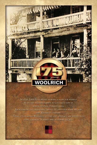 Portfolio :: Woolrich History Poster :: Threshold Creative, Inc.